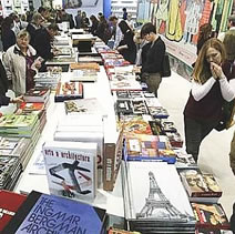 travel writers attending the Frankfurt Book Fair