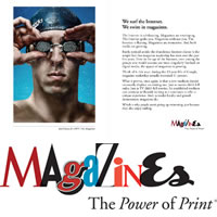 The Power of Print ad campaign