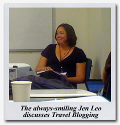 Jen Leo speaks about Travel Blogging at the Book Passage Travel Writers & Photographers Conference