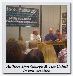 Don George and Tim Cahill at Book Passage Travel Writers and Photographers Conference August 2009