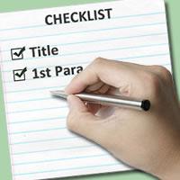 travel writing checklist